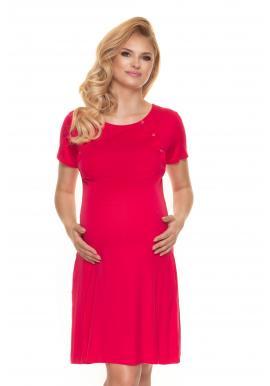 Růžová těhotenská a kojící košile na zapínání
