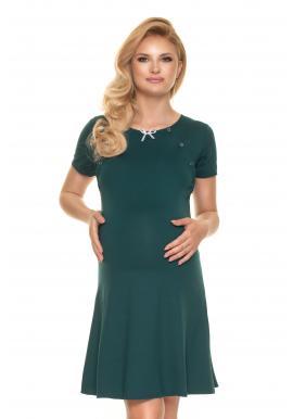 Zelená noční košile s mašličkou pro těhotné