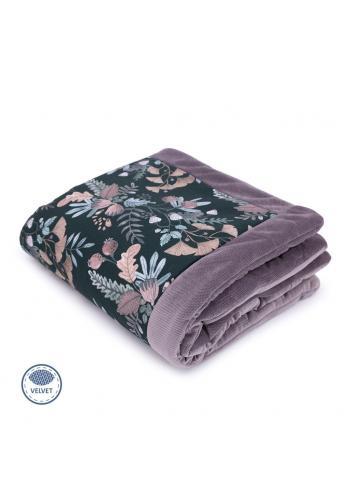 Teplá zamatová deka pre deti - kvety/žltá