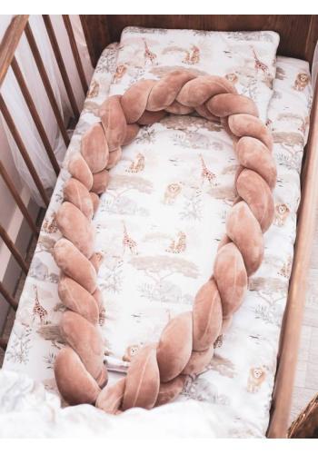 Pletené dětské hnízdo PREMIUM 2 v 1 - hnědá / Safari