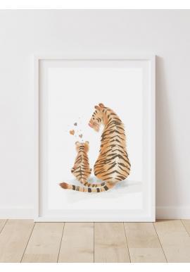 Dětský dekorační plakát s obrázkem tygra