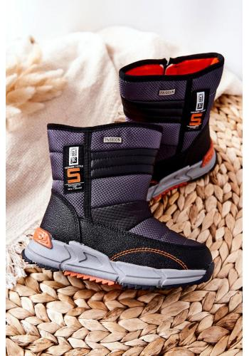 Dětské černé teplé boty do sněhu
