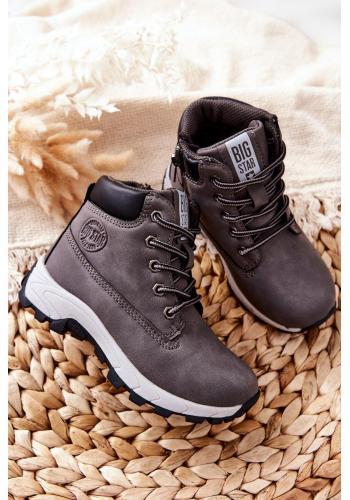 Dětské trekingové boty Big Star v šedé barvě