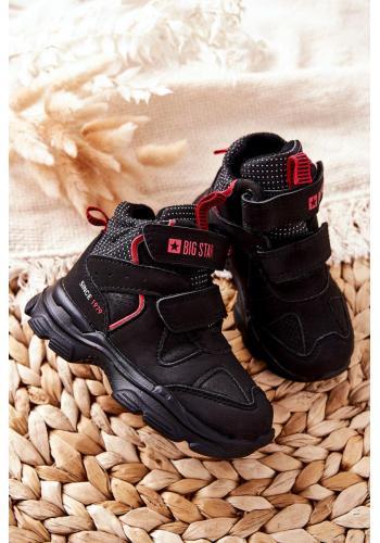Trekingové dětské boty Big Star v černé barvě