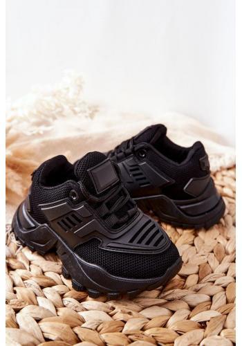 Dětské sneakersy v černé barvě