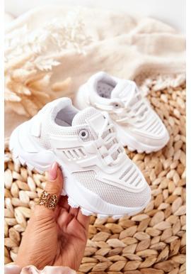 Dětské sneakersy v bílé barvě