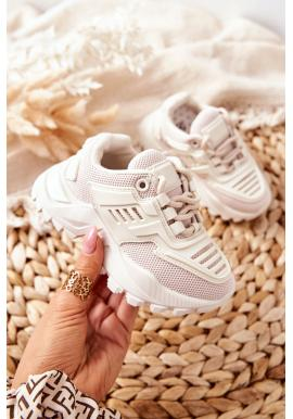 Dětské sneakersy v béžové barvě