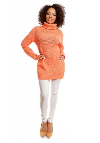 Béžový krátky módny sveter pre dámy