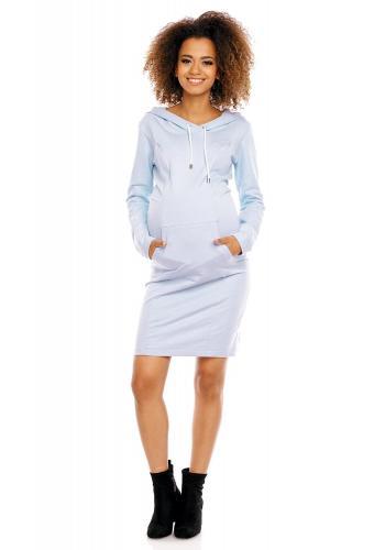 Tehotenské a dojčiace šaty s kapucňou v bordovej farbe