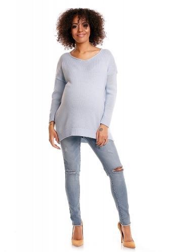 Cappuccinový oversize sveter pre tehotné