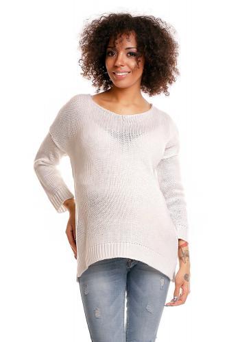 Tehotenský modrý oversize sveter
