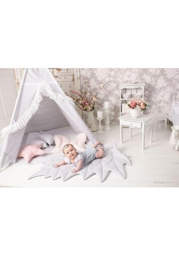 Ružový indiánsky stan pre deti s podložkou a vankúšmi