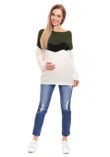 Tehotenská a dojčiaca kockovaná blúzka v čierno-bielej farbe
