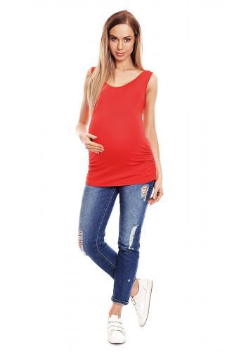 Tyrkysové 3/4 nohavice s elastickým pásom a mašľou pre tehotné