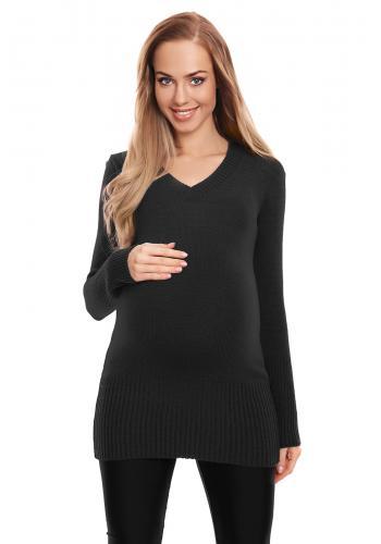 Tehotenská vypasovaná tunika v slivkovej farbe