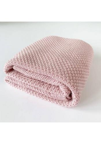 Staroružová pletná deka - 100% Bambus