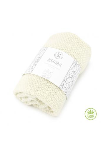 Smotanová pletná deka - 100% Bambus