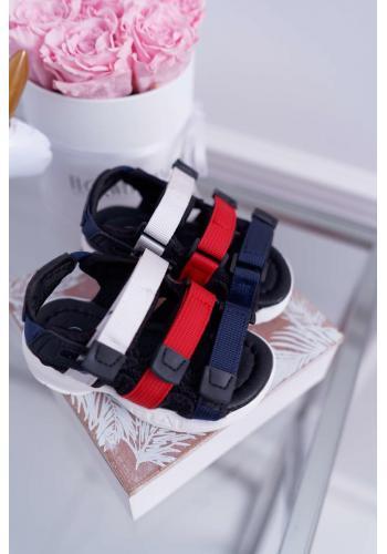 Sandále na suchý zips pre deti v čiernej farbe