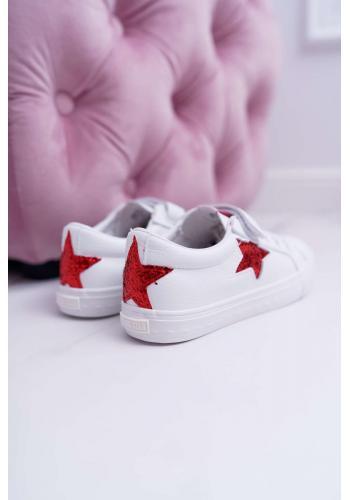 Detské tenisky Big Star na suchý zips v bielej farbe