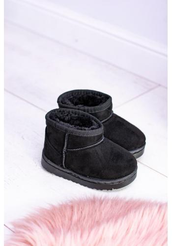 Oteplené detské snehule čiernej farby