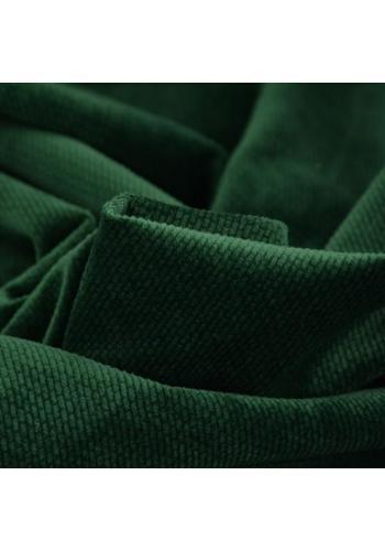 Obojstranný chránič na postieľku zamat - tmavo zelená zvieratá