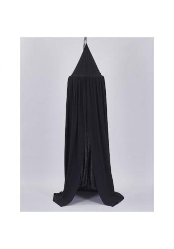 Detský tylový baldachýn v čiernej farbe