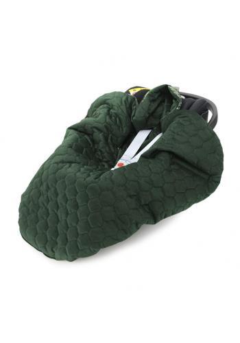 Detská teplá prikrývka so zamatom - zvieratá/tmavo zelená