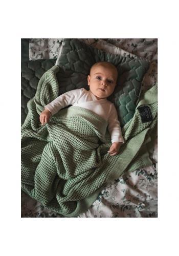 Šalviová pletená deka pre deti