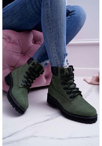 Zelené kožené Workery Big Star pre dámy