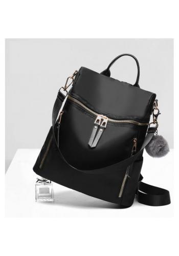 Sivý elegantný ruksak so zlatým zapínaním pre dámy