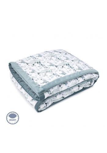 Zamatová teplá deka - šalvia zelená