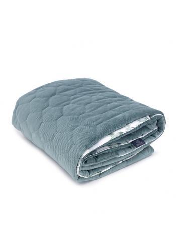 Zamatová tenká deka pre deti - šalvia zelená