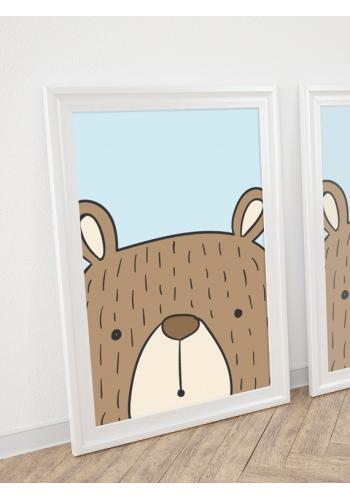 Dětský plakát na stěnu s motivem medvěda