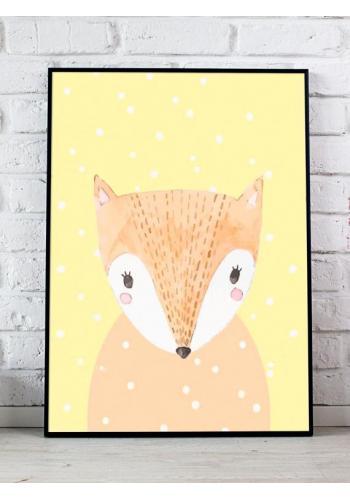 Sada dětských závěsných plakátů s motivem zimních zvířat
