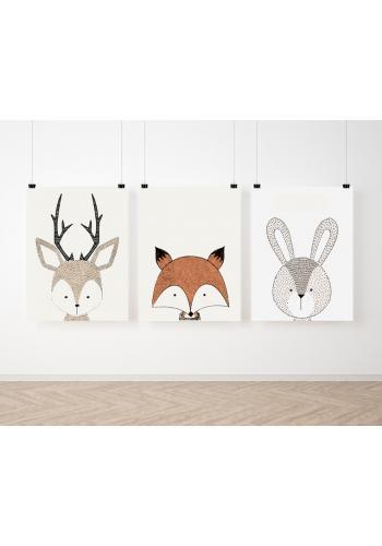 Sada dekoračních dětských plakátů se zvířátky s kolekce ZOO