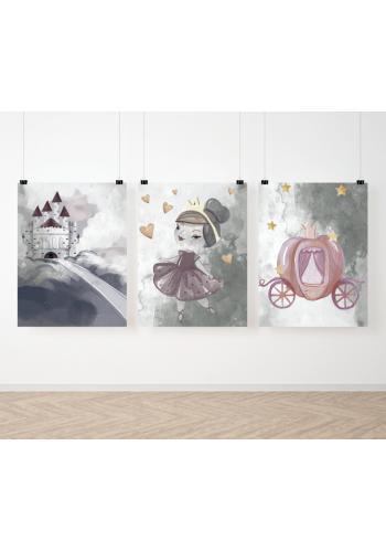 Dětská sada pohádkových malovaných plakátů