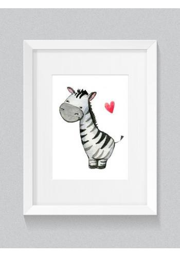 Sada dětských plakátů na zeď s motivem srdce a zebry