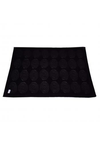 Dětská černá pletená bambusová deka