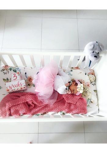Vintage růžová bambusová deka pro děti