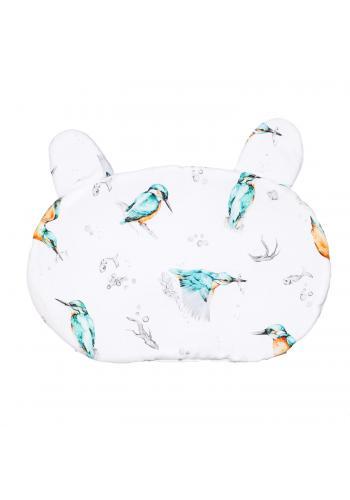 Dětský bavlněný polštář s oušky - zoborožec