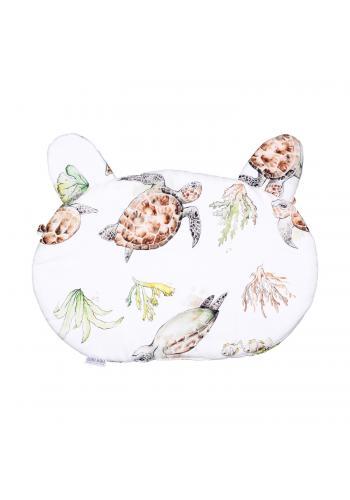 Dětský bavlněný polštář s oušky - Pacifik