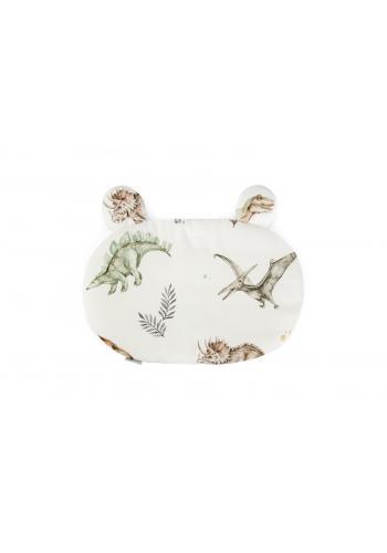 Dětský bavlněný polštář s oušky - dinosaurus