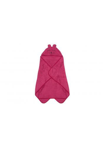 Bambusový dětský ručník v malinové barvě