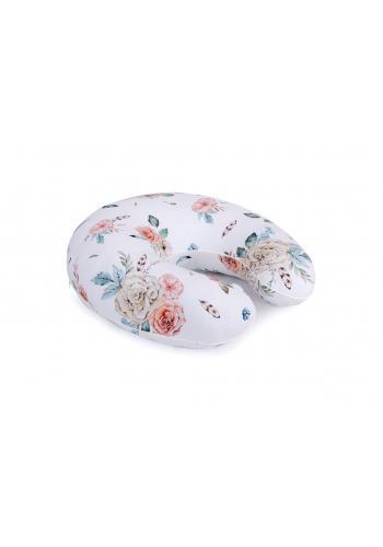 Kojící polštář ve tvaru C s motivem vintage květin