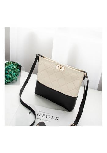 Dámská mini kabelka z ekokůže v krémové barvě