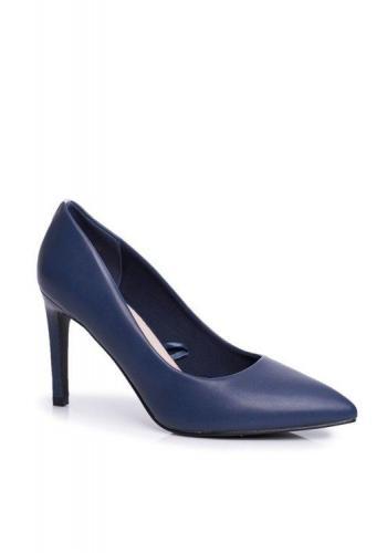 Klasické dámské lodičky na vysokém podpatku v modré barvě