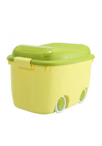 Organizér na hračky s kolečky v zelené barvě