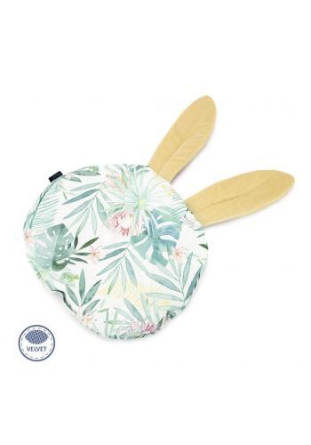 Sametový polštář s ušima s tropickým motivem