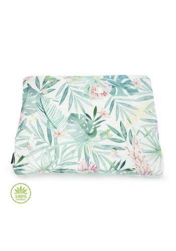 Malý polštář s tropickým motivem - 100% bambus