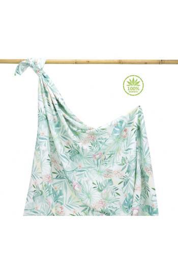 Bambusová deka na léto s tropickým motivem